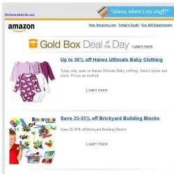 [Amazon] Up to 30% off Hanes Ultimate Baby Clothing