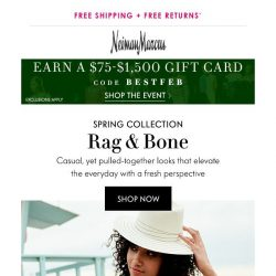 [Neiman Marcus] Rag & Bone welcomes spring