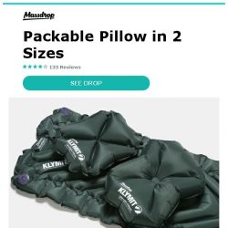 [Massdrop] Massdrop x Klymit Pillow X: Lightweight & Easy to Pack, Starting at $14.99