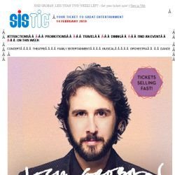 [SISTIC] JOSH GROBAN: LESS THAN TWO WEEKS LEFT - Get your tickets now!