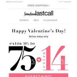 [Last Call] ♡ We're treating you to our sale on sale (EXTRA 14% off + 30%-75% off everything)