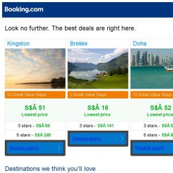 [Booking.com] Kingston, Brekke, or Doha? Get great deals, wherever you want to go
