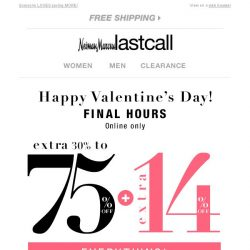 [Last Call] 😍 Final hours: extra 14% off on top of 30%–75% off everything