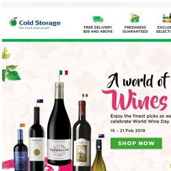 [Cold Storage] 🍷 Celebrate Your Love for Wine this Weekend! 🍷