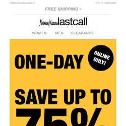 [Last Call] ⚡ FLASH SALE ⚡ 1 DAY ONLY ⚡ up to 75% off