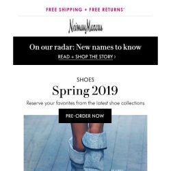 [Neiman Marcus] Pre-order spring shoes!