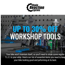 [Chain Reaction Cycles] Workhop Tools • Up to 30% off  🔧