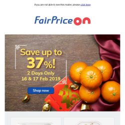[Fairprice] Up to 37% in savings!