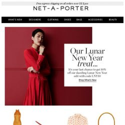 [NET-A-PORTER] It's your last chance to get 10% off our Lunar New Year edit