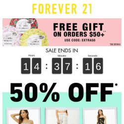 [FOREVER 21] Catch 24-HOUR STEALS, not feelings.