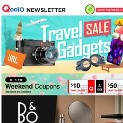 [Qoo10] Travel Gadgets Sale Is Here | Get Ready To Jet Off !