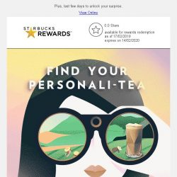 [Starbucks] Have you found your TEArrific match?