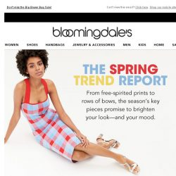 [Bloomingdales] Spring trend watch: What to wear now