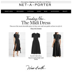 [NET-A-PORTER] The midi of the moment