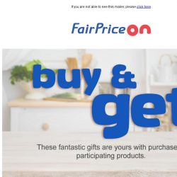 [Fairprice] We've got your FREE gifts!