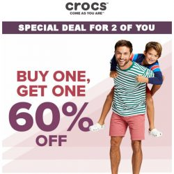 [Crocs Singapore] For U and Ur +1❤  Buy One, Get One 60% Off‼