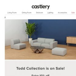 [Castlery] Todd's on Sale! Big Savings on our Bestseller.