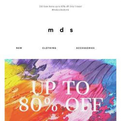 [MDS] 200 Styles Up To 80% Off!   3 Days Only!😍