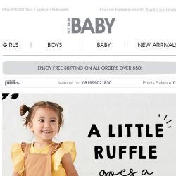 [Cotton On] New Baby Styles! 2 for $30 Rompers!