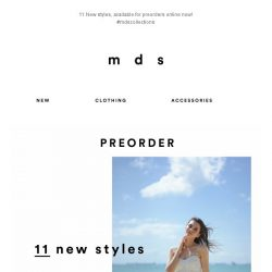 [MDS] 11 New Styles, Available For Preorders Online!😍