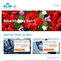[KLM] Last chance to book our Amazing Deals to Bali!
