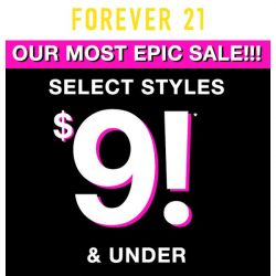 [FOREVER 21] Deals under $5, $7, and $9