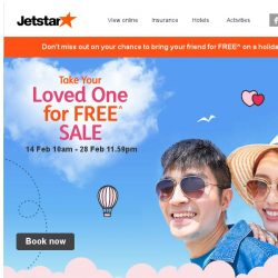[Jetstar] 💕 Take Your Loved One for FREE^ to Siem Reap, Taipei and more!