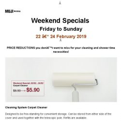 [Muji] MUJI Weekend Specials: 22 - 24 February 2019