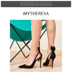 [mytheresa] Polished pumps | Trending pieces of the week + limited time free shipping
