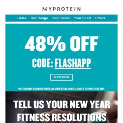 [MyProtein] ⚠️ Secret flash sale ends soon...