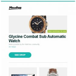 """[Massdrop] Glycine Combat Sub Automatic Watch, LG 77"""" OLED77C8PUA 4K HDR Smart OLED TV w/ AI ThinQ, Glycine Airman Vintage """"The Chief"""" Automatic Watch and more..."""