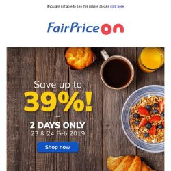 [Fairprice] Bag up to 39% in savings! 😍
