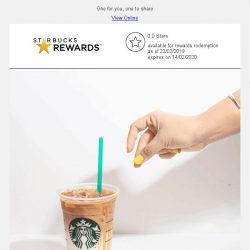 [Starbucks] Yay, a 1-for-1 treat is coming 😋