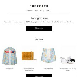 [Farfetch] Your most-loved labels last week