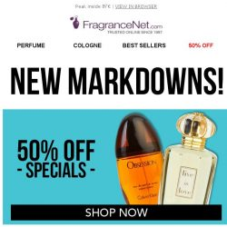 [FragranceNet] NEW markdowns: up to 80% sitewide