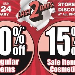BHG: Post CNY Sale with 30% OFF Regular Items & 15% OFF Sale Items & Cosmetics!