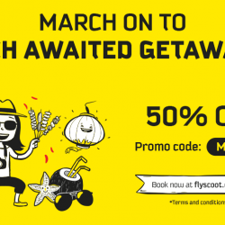 Scoot: 50% OFF 57 Destinations Including Krabi, Tianjin, Clark, Gold Coast & More!