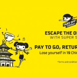 Scoot: Extended Take Off Tuesday - Pay to Go & Return for FREE to 61 Destinations!