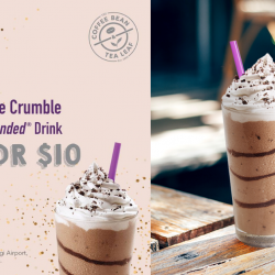 The Coffee & Tea Leaf: Get 2 Cookie Crumble Iced Blended Drinks at only $10!