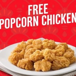 KFC: Get a FREE Popcorn Chicken worth $4.60 with KFC Delivery!