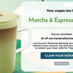 Starbucks: Get $1 OFF One Handcrafted Beverage!
