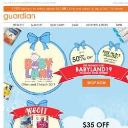 [Guardian] 🍼 Parents, save up to 50% OFF with exclusive Babyland offers!