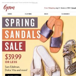 [6pm] $39.99 or Less Spring Sandals Sale!