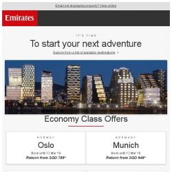 [Emirates] These offers are too good to miss