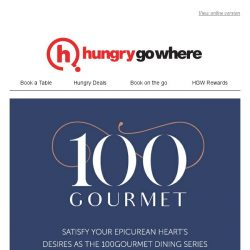 [HungryGoWhere] 100Gourmet: 2 exclusive dining events for Singtel subscribers
