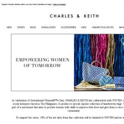 [Charles & Keith] Shop for a cause: CHARLES & KEITH x WOVEN