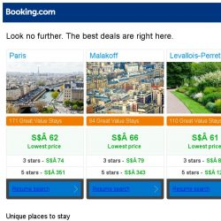 [Booking.com] Paris, Malakoff, or Levallois-Perret? Get great deals, wherever you want to go