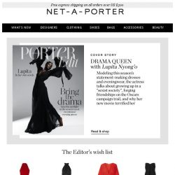 [NET-A-PORTER] Lupita Nyong'o wears SS19's exceptional evening pieces