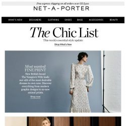 [NET-A-PORTER] , see the most desirable dresses to own now