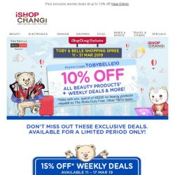 [iShopChangi]  You're invited: 10% off all beauty